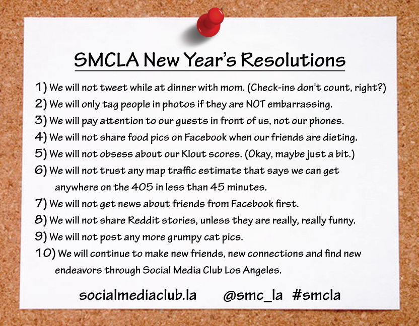 SMCLA New Year's Resolutions